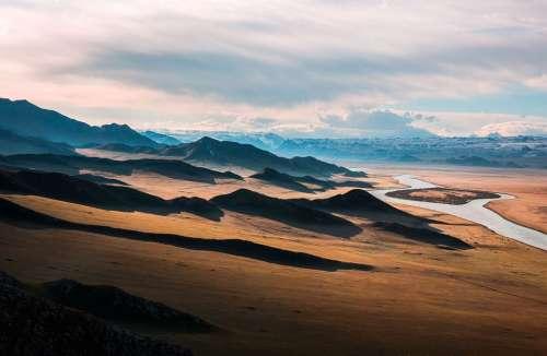 Prairie Mountains Alone Hills Wilderness River