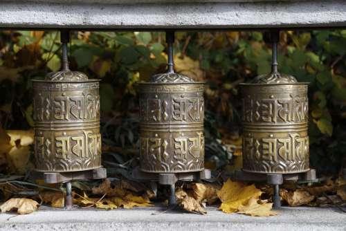Prayer Wheels Nepal Turn Buddhism Pray Autumn