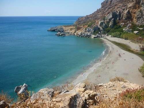 Preveli Crete Greece Mediterranean Costa