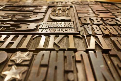 Printing Plate Letters Font Type Design Alphabet