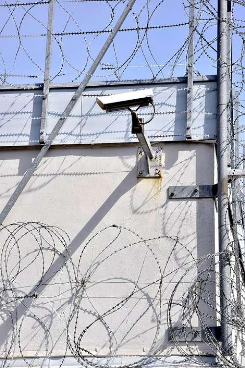 Prison Barbed Wire Camera Monitoring