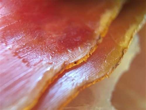 Prosciutto Ham Smoked Prosciutto Ham Striations Meat