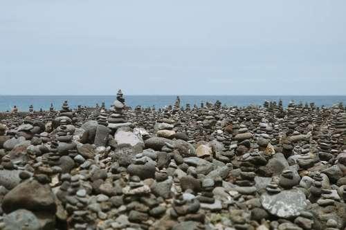 Puerto De La Cruz Tenerife Stones Sea Holiday