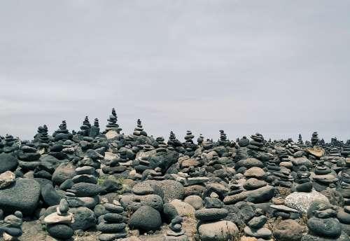 Puerto De La Cruz Stones Monument Stone Cruz