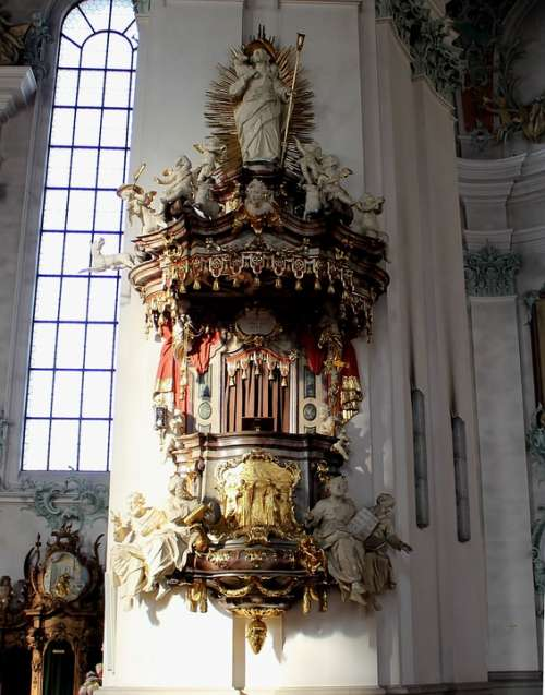 Pulpit Cathedral Interior Sacral Ornaments
