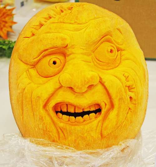 Pumpkin Face Scary Mouth Decoration Decorative