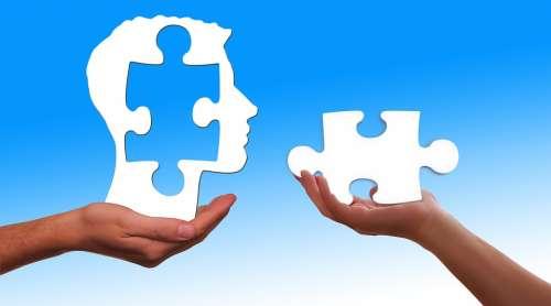 Puzzle Head Missing Part Part Think Psychology