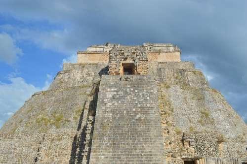Pyramid Mexico Maya Architecture Uxmal Aztec Sun