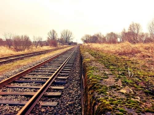 Rail Railway Train Tracks Transportation Tracks