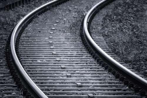 Rails Railroad Tracks Track Train Railway Sleepers