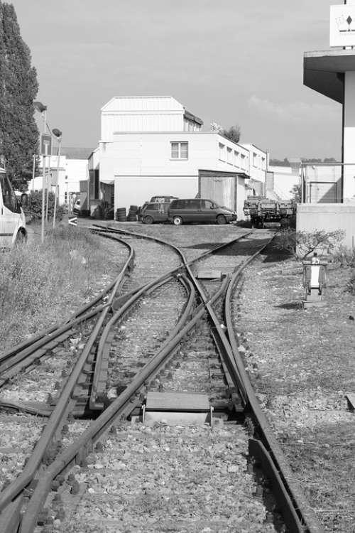 Rails Track Locomotive Industrial Area Train