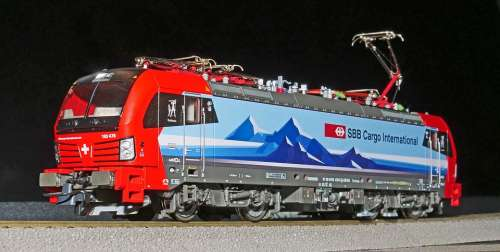 Railway Model Train Electric Locomotive Modern