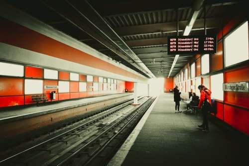 Railway Station Platform Architecture Train Metro