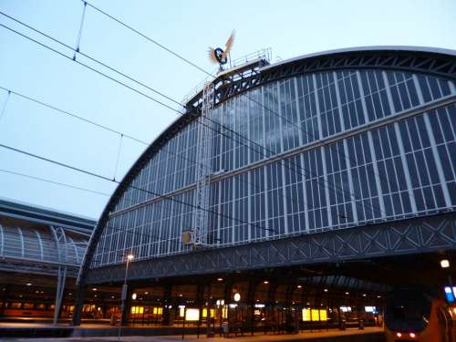 Railway Station Architecture Amsterdam Roof Hall