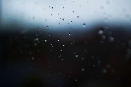Rain Drops Window Sets Mood