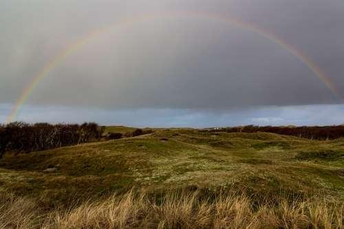 Rainbow Norderney Sky North Sea Landscape