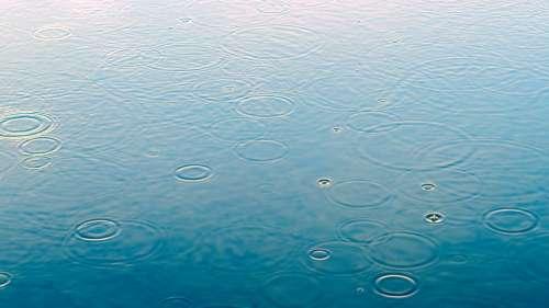 Raindrop Puddle Rain Water Rainy Weather Wet Drip