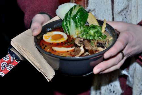 Ramen Food Enjoy Tasty Noodles Presentation Plate