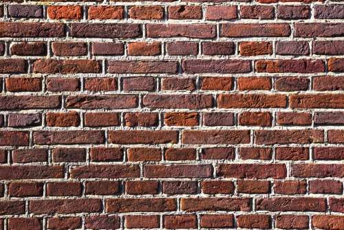 Red Brick Wall Stone Bricks Masonry Cement Seam