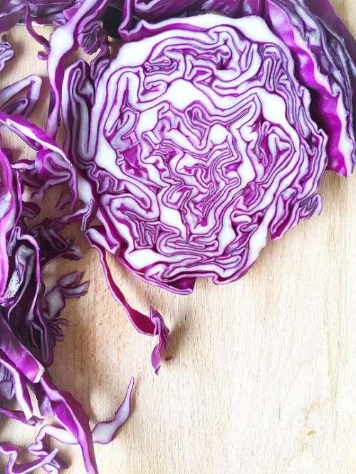 Red Cabbage Vegetable Diced Cabbage Violet