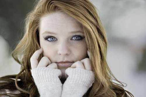 Woman Girl Cold Redhead Beautiful Young