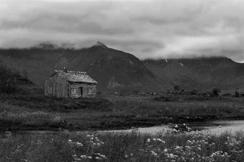Remote Cabin Norway Atmospheric Storm Clouds