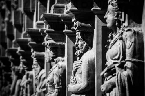 Renaissance Statues Schallaburg Figures Facade