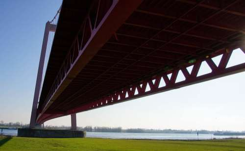 Rhine Water Germany Landscape Bridge