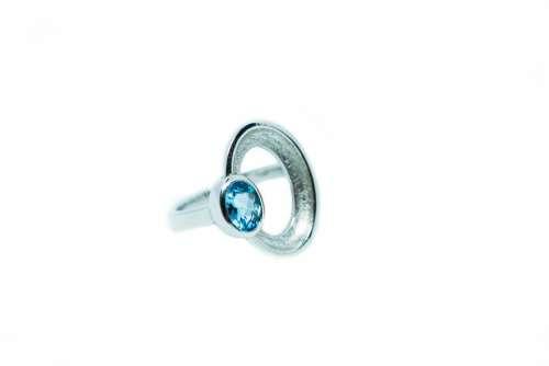 Ring Macro Blue Jewelry Rings Diamond Photography