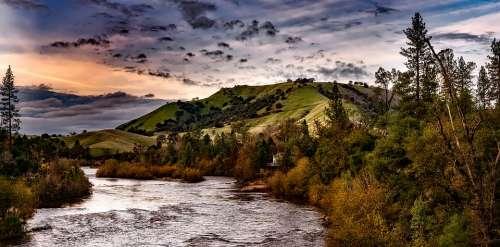 River Hills Evening California Landscape Scenic