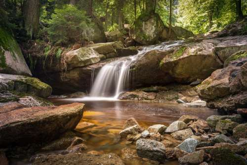 River Bach Long Exposure Atmospheric Water Nature