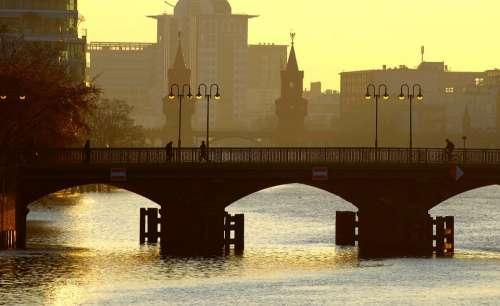River Bridge Morgenstimmung Architecture Water