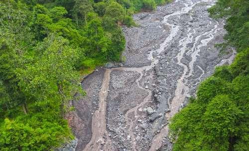 River Mountain Semeru River Landscape Water