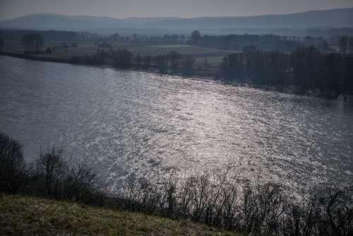 River The Danube Water Mood Nature Scintillating