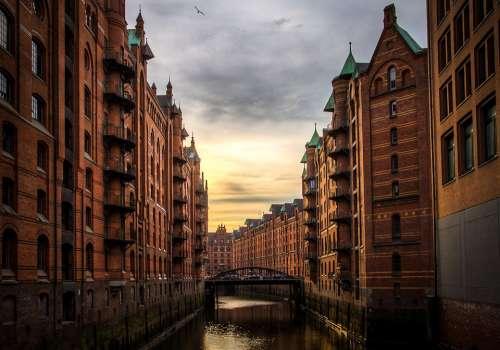 River Buildings Hamburg Storehouse-Town