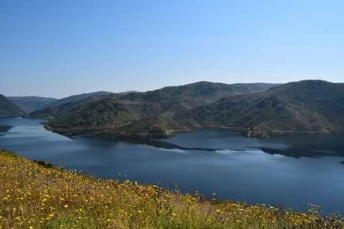 River Douro Landscape Mountains Nature Mountain