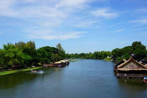 River Kwai Thailand Asia River Kanchanaburi