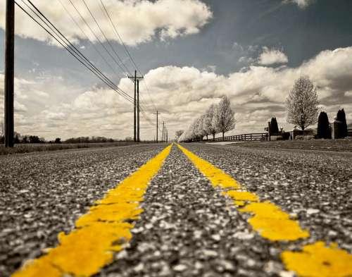 Road Road Marking Street Miles Travel