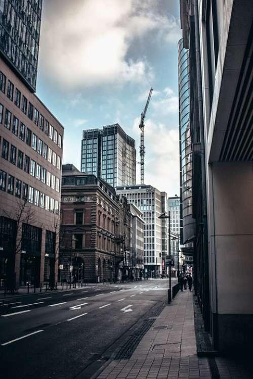 Road Big City Architecture Building Downtown