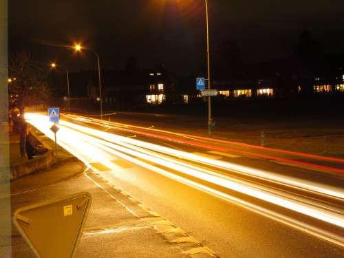 Road Long Exposure Car Lights