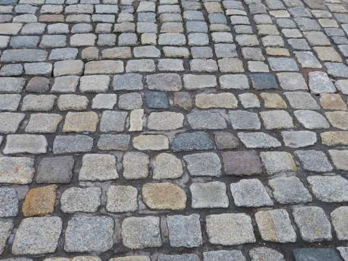 Road Ground Paving Stones Away Texture Stone