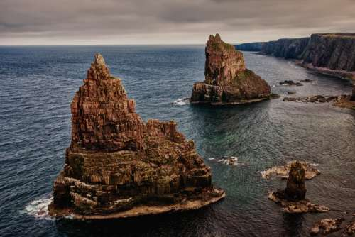 Rock Stacks Of Duncansby Scotland North Of Scotland
