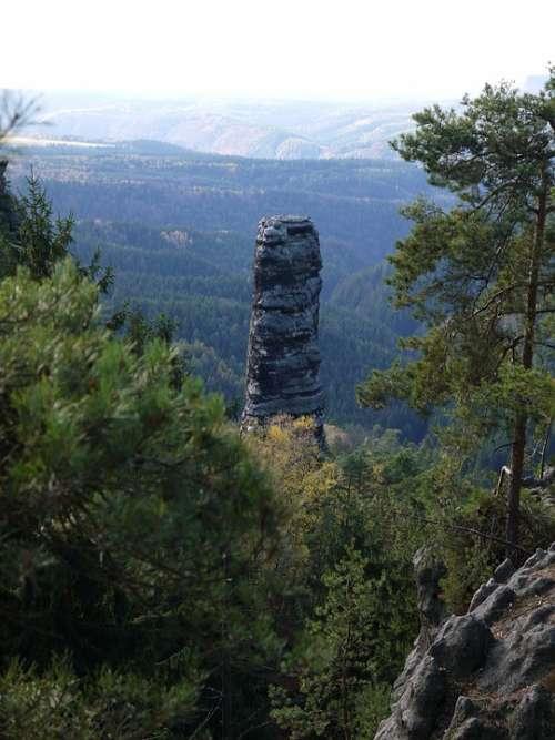 Rock Nature Landscape Rocks Trees