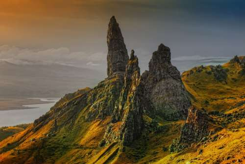 Rock Scotland Isle Of Skye Old Man Of Storr