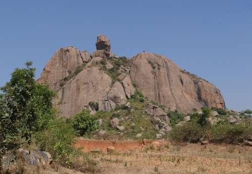 Rock Formation Hillock Granite Erosion Boulders