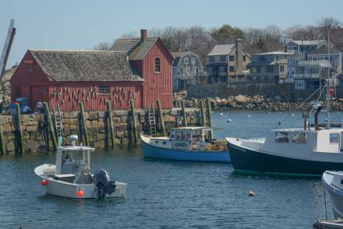 Rockport Ma Motif Mass New England Boats