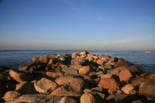 Rocks Ocean Sea Water Sky Nature Sunset Success