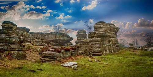 Rocks Landscape Brimham Rocks Nature Rock