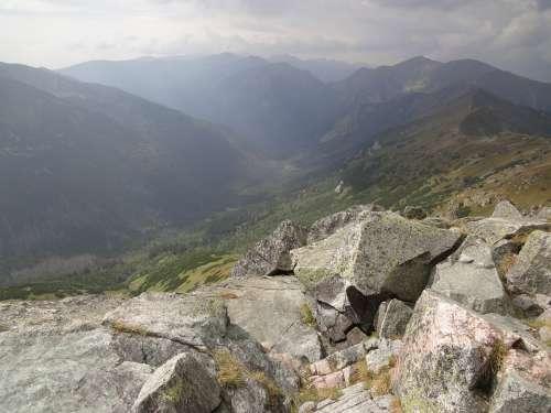 Rocks Climbing Tatry View Nature Mountains Poland