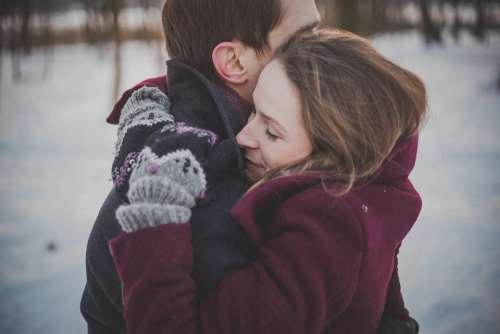 Romance Couple Love Hug Embrace Trust Hugging